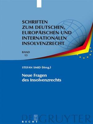cover image of Neue Fragen des Insolvenzrechts