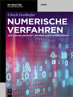 cover image of Numerische Verfahren