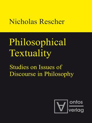 cover image of Philosophical Textuality