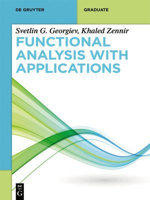 cover image of Functional Analysis with Applications