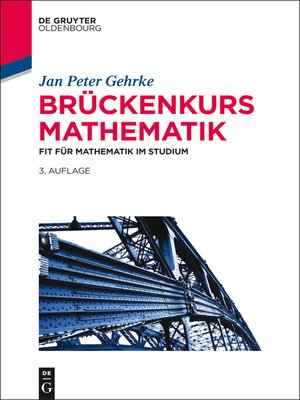 cover image of Brückenkurs Mathematik
