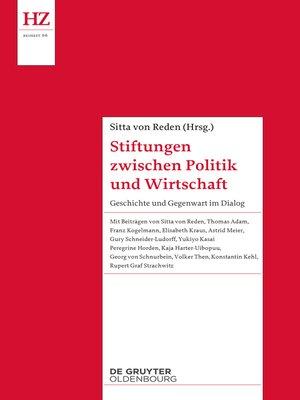 cover image of Stiftungen zwischen Politik und Wirtschaft