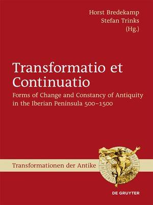 cover image of Transformatio et Continuatio
