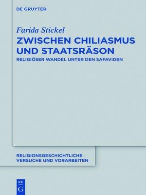 cover image of Zwischen Chiliasmus und Staatsräson