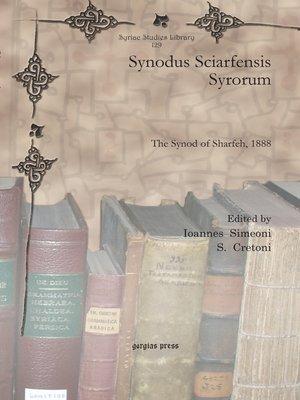 cover image of Synodus Sciarfensis Syrorum