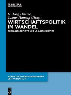 cover image of Wirtschaftspolitik im Wandel
