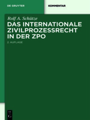 cover image of Das internationale Zivilprozessrecht in der ZPO