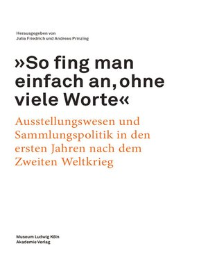 """cover image of """"So fing man einfach an, ohne viele Worte"""""""