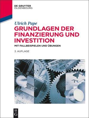 cover image of Grundlagen der Finanzierung und Investition