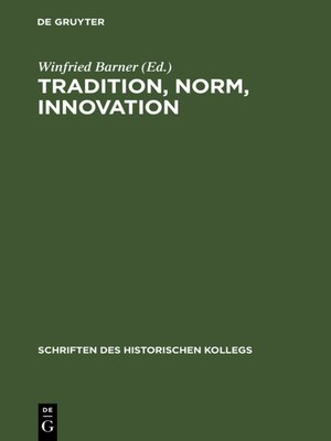 cover image of Tradition, Norm, Innovation