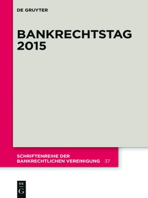 cover image of Bankrechtstag 2015