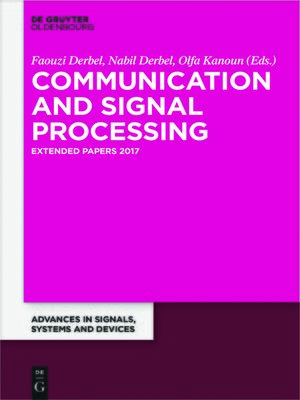 cover image of Communication and Signal Processing