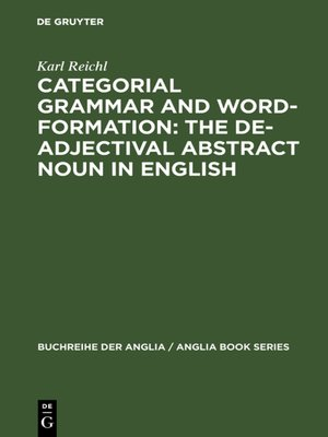 cover image of Categorial Grammar and Word-Formation
