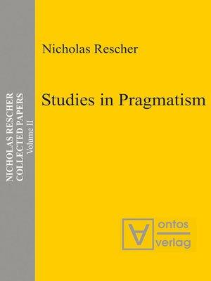 cover image of Studies in Pragmatism
