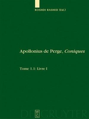 cover image of Livre I. Commentaire historique et mathématique, édition et traduction du texte arabe. 1.2