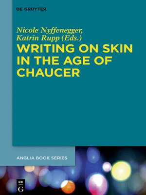 cover image of Writing on Skin in the Age of Chaucer