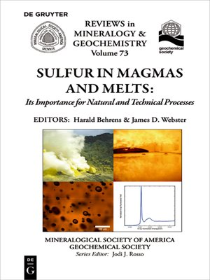 cover image of Sulfur in Magmas and Melts