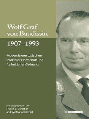cover image of Wolf Graf von Baudissin 1907 bis 1993