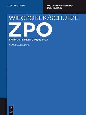 cover image of Einleitung; §§ 1-23