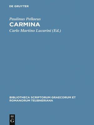 cover image of Carmina
