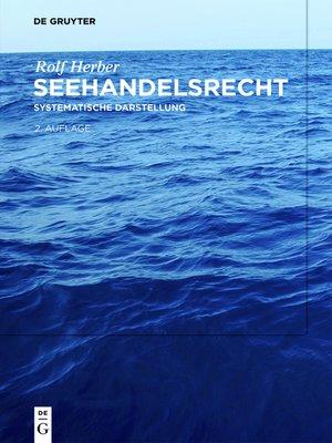 cover image of Seehandelsrecht