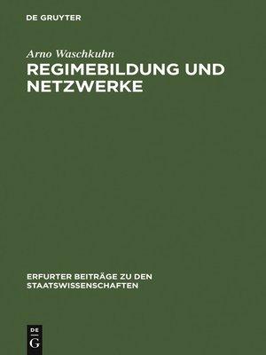 cover image of Regimebildung und Netzwerke
