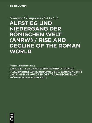 cover image of Sprache und Literatur (Allgemeines zur Literatur des 2. Jahrhunderts und einzelne Autoren der trajanischen und frühhadrianischen Zeit)