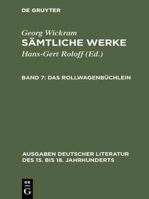 cover image of Das Rollwagenbüchlein