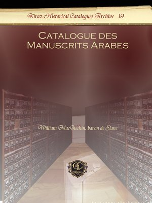 cover image of Catalogue des Manuscrits Arabes