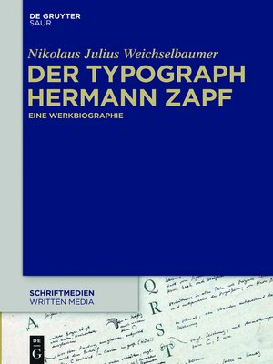 cover image of Der Typograph Hermann Zapf