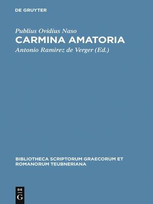 cover image of Carmina amatoria