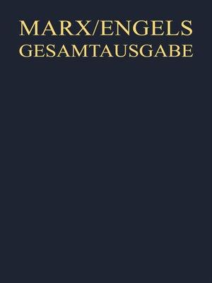 cover image of Manuskripte und Drucke zur Deutschen Ideologie