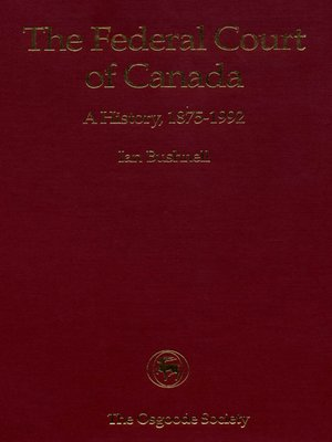 cover image of The Federal Court of Canada
