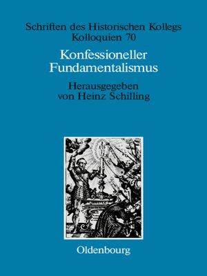 cover image of Konfessioneller Fundamentalismus