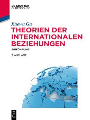 cover image of Theorien der Internationalen Beziehungen