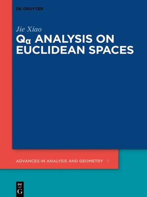 cover image of Qα Analysis on Euclidean Spaces
