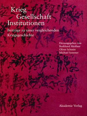 cover image of Krieg--Gesellschaft--Institutionen