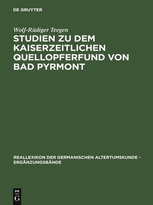 cover image of Studien zu dem kaiserzeitlichen Quellopferfund von Bad Pyrmont