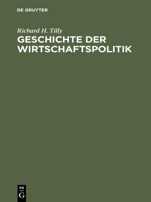cover image of Geschichte der Wirtschaftspolitik