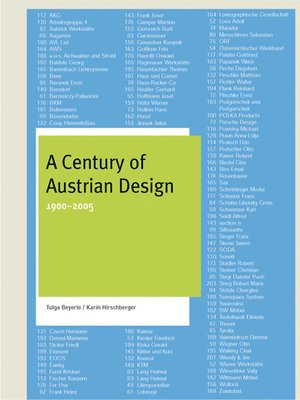 cover image of A Century of Austrian Design