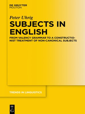 cover image of Subjects in English