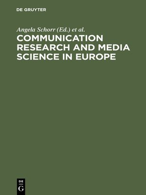 cover image of Communication Research and Media Science in Europe