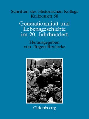 cover image of Generationalität und Lebensgeschichte im 20. Jahrhundert