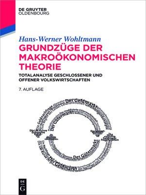 cover image of Grundzüge der makroökonomischen Theorie