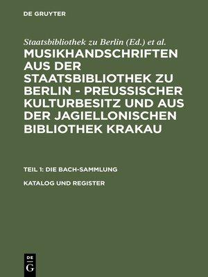 cover image of Katalog und Register