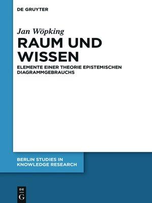 cover image of Raum und Wissen