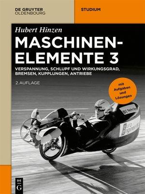 cover image of Verspannung, Schlupf und Wirkungsgrad, Bremsen, Kupplungen, Antriebe