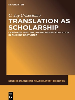 cover image of Translation as Scholarship