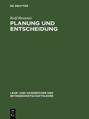 cover image of Planung und Entscheidung