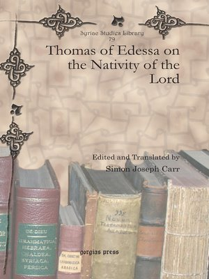 cover image of Thomas of Edessa on the Nativity of the Lord